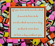Declaration Of Love Framed Prints - Licorice - Candy Border - Declaration of Love - Quote Framed Print by Barbara Griffin