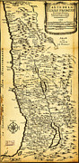 Old Map Paintings - Liebauxs Map of the Holy Land 1720 by MotionAge Art and Design - Ahmet Asar