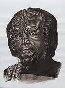 Enterprise Painting Originals - lieutenant commander Worf Star Trek TNG by Giulia Riva