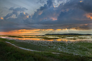 Cape Cod Landscape Posters - Lieutenant Island Sunset Poster by Bill  Wakeley
