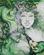 Greenery Drawings - Life Anew by NHowell