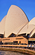 Sydney City Prints - Life around the Opera House Print by Kaye Menner