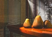 Pears Digital Art Framed Prints - Life As A Pear Framed Print by Zeana Romanovna
