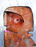 Abstract Expressionist Mixed Media Posters - Life as Human No. 35 The Lost Tribe Poster by Mark M  Mellon