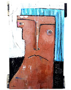 Outsider Artist Prints - Life As Human Number Fifteen Print by Mark M  Mellon