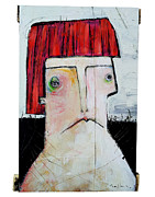 Primitive Mixed Media Prints - LIFE AS HUMAN NUMBER Seven Print by Mark M  Mellon