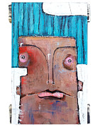 Expressionistic Prints - Life As Human Number Six Print by Mark M  Mellon