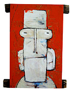 Expressionist Mixed Media Posters - LIFE AS HUMAN NUMBER Ten Poster by Mark M  Mellon
