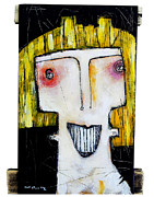 Abstract Expressionist Metal Prints - Life As Human Number Thirteen Metal Print by Mark M  Mellon
