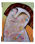 Orange Mixed Media Originals - Life As Human Number Thirty Two by Mark M  Mellon