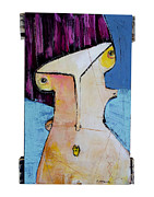 Abstract Expressionist Mixed Media Metal Prints - Life As Human Number Twenty Metal Print by Mark M  Mellon
