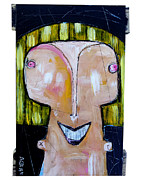 Primitive Paintings - Life As Human Number Twenty Three by Mark M  Mellon