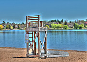 Life Guard Framed Prints - Life Guard Chair Framed Print by Jimmy Ostgard