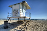 Life Guard Framed Prints - Life Guard Station #9 Framed Print by Spencer McDonald