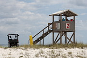 Pensacola Fishing Pier Posters - Life Guards on Duty Poster by Michelle Powell