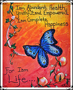 Affirmation Posters - Life - Healing Art Poster by Absinthe Art By Michelle LeAnn Scott