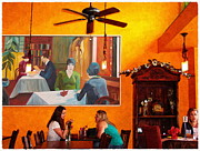 Glenn McCarthy Art and Photography - Life Imitates Art - Cafe