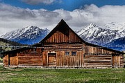 Barn In The Woods Framed Prints - Life In The Tetons Framed Print by Dan Sproul