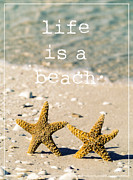 Positive Metal Prints - Life is a beach Metal Print by Edward Fielding