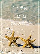 Life Is A Beach Print by Edward Fielding