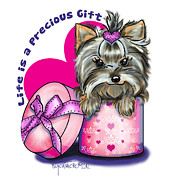 Puppy Mixed Media - Life is a precious gift by Catia Cho
