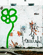 Spray Paint Mixed Media Posters - Life is Beautiful Graf 2 Poster by adSpice Studios