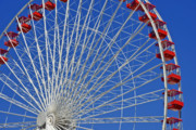 Round Metal Prints - Life is like a Ferris Wheel Metal Print by Christine Till