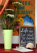 Greece Photo Metal Prints - Life Is Too Short Metal Print by Bob Christopher