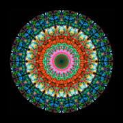 Kaleidoscope Prints - Life Joy - Mandala Art By Sharon Cummings Print by Sharon Cummings