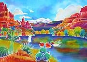 Moab Painting Prints - Life of the Canyon Print by Harriet Peck Taylor