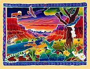 Wildlife Sunset Posters - Life of the Desert Poster by Harriet Peck Taylor