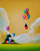 Imagination Painting Prints - Life Of The Party Print by Cindy Thornton