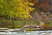 Rivers In The Fall Framed Prints - Life On The River Framed Print by Bill  Wakeley