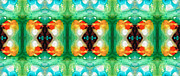 Green Chakra Prints - Life Patterns 1 - Abstract Art By Sharon Cummings Print by Sharon Cummings