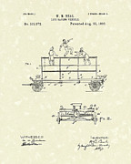 Fireman Drawings Posters - Life-Saving Vehicle 1893 Patent Art  Poster by Prior Art Design