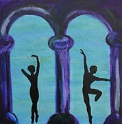 Shadow Dancing Painting Framed Prints - Life Scars Framed Print by Lara Whitmore