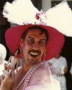 Life Size Barbie In Pink Colours At The Southern Decadence Parade In New Orleans Louisiana Print by Michael Hoard