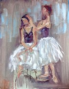 Ballerinas Prints - Life Study of Ballerinas Print by Carol Berning
