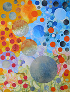Watercolour Mixed Media Originals - Life the Universe and Everything by Adel Nemeth
