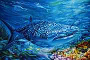 Green Sea Turtle Paintings - Life Undersea by Olaoluwa Smith