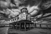 Neglect Prints - Lifeboat Station BW Print by Nigel Hamer
