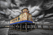 Nigel Hamer Prints - Lifeboat Station Colorised Print by Nigel Hamer