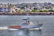 Horizontal - Lifeguard Boat by Chuck Staley