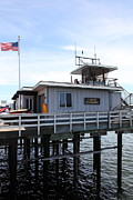 Santa Cruz Pier Prints - Lifeguard Headquarters On The Municipal Wharf At Santa Cruz Beach Boardwalk California 5D23827 Print by Wingsdomain Art and Photography