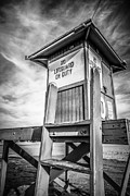 Shack Prints - Lifeguard Tower 10 Newport Beach HDR Picture Print by Paul Velgos