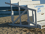 Job - Barber Art - Lifeguards Off Duty - Ocean Grove NJ by Anna Lisa Yoder