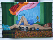 Tape Player Prints - Lifesize Male Nude Print by Barbara Daniel