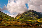 Highlands Of Scotland Prints - Ligh over Glencoe. Scotland Print by Jenny Rainbow