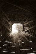 Wooden Structures Prints - Light and Lines Print by Phil Abrams