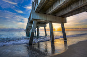 Florida Bridges Prints - Light at Dawn Print by Debra and Dave Vanderlaan